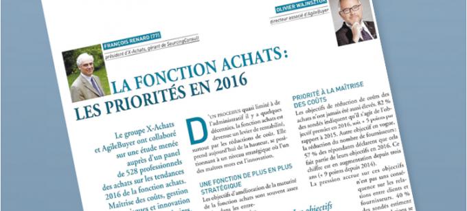 Miniature La fonction achats  priorité en 2016